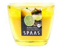 Sviečka Spa sklo 8,4x7,2cm citrus Spaas 1ks