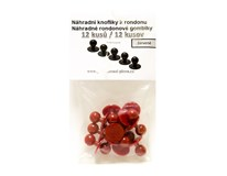 Gombíky náhradné červené Horeca Select 12ks
