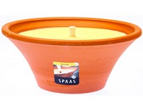 Sviečka Spa terracota citronella 18cm Spaas 1ks