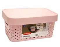 Box úložný Infinity 4,5l ružový s bodkami Curver 1ks