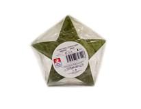 Sviečka Hviezda lakovaná zelená 130x60mm KRAB 1ks