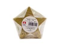 Sviečka Hviezda lakovaná zlatá 130x60mm KRAB 1ks