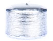 Sviečka Kontury metal strieborná 7x5cm KRAB 1ks