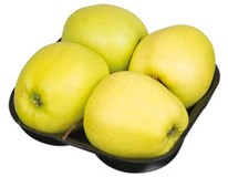 Jablká Golden Delicious 75+ I. SK čerstvé 1x4 ks tácka