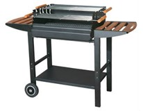Gril BBQ Trolley Deluxe 129x90x89,5cm Tarrington House 1ks
