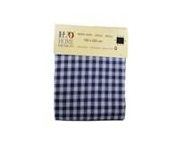 Obrus kocka bavlna 150x220cm tmavo modrý H & D 1ks