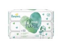 Pampers Aqua Pure vlhčené obrúsky 3x48 ks
