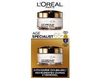 L'Oréal Age Specialist 65+ Vyživujúci krém denný a nočný duopack 2x50 ml