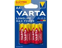 Batérie Varta Longlife MaxPower AA 6ks