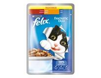Felix Fantastic Duo hovädzie a hydina krmivo pre mačky 20x100 g