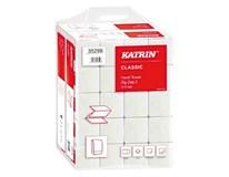 Papierové utierky skladané ZZ Classic biele 2-vrstvové 20x200 útržkov Katrin 1ks