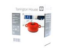 Hrniec s pokrievkou hliníkový mini červený 10cm Tarrington House 1ks