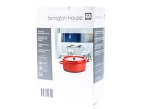 Hrniec s pokrievkou hliníkový mini oválny 13cm červený Tarrington House 1ks