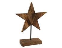 Dekorácia Hviezda drevená 26cm 1ks
