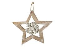 Dekorácia Hviezda závesná 15cm 1ks