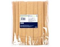 Slamky papierové ECO Kraft 6x200mm 200ks