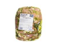 Bravčové karé bez kosti marinované Medvedí cesnak plátky chlad. váž. cca 1,1 kg