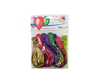 Balóny 30 cm mix metalických farieb 1x10 ks