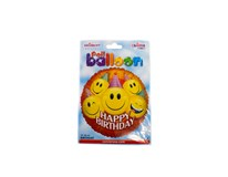 Balón Party Smiles fóliový 46 cm 1x1 ks
