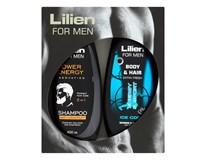 Lilien for Men Ice Cool sprchový gél+ Energy&Sport šampón 2x400 ml