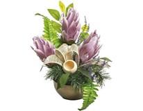 Dekorácia kvetinová KOM003 fialová 1ks