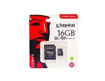 Kingston Micro SDHC karta s adaptérom 16GB 1 ks