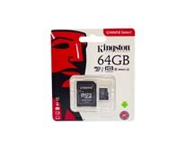 Kingston Micro SDHC karta s adaptérom 64GB 1 ks