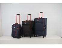 Batožina Melik 80 cm tmavo modrá/červená Lambertazzi 1 ks