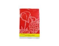 Utierky žakárové kuchynské červené 50x70 cm Mileta 1ks