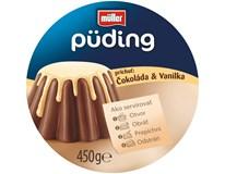 Müller Puding čokoláda-vanilka chlad. 1x450 g