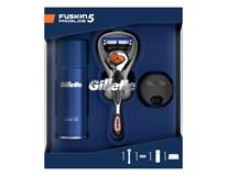 Kazeta Gillette Fusion5 Pro Glide strojček+gél na holenie+stojan 1x1ks