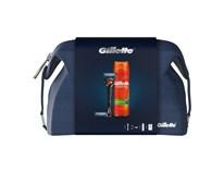 Kazeta Gillette Fusion5 ProGlide strojček+ gél na holenie+ taška 1x1ks