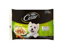 Cesar Selection s kuracím a hovädzím mäsom v želé kapsičky 1x400 g