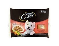 Cesar Selection s kuracím a hovädzím mäsom v omáčke kapsičky 1x400 g