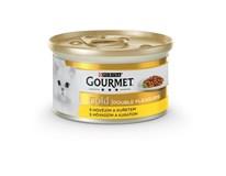 Purina Gourmet Gold Kúsky v šťave hovädzie a kura 1x85 g