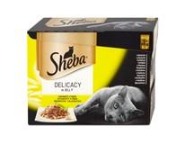 Sheba Delicacy hydinový výber v želé kapsičky 12x85 g
