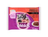Whiskas Junior klasický výber v šťave kapsičky 4x100 g