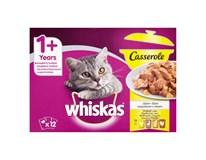 Whiskas Casserole hydinový výber v želé kapsičky 12x85 g