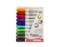 Popisovače na bielu tabuľu K-Marker Plus mix Kores 10 ks