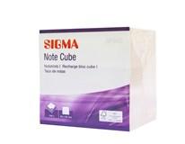 Bloček box 9 cm 700 listov biely Sigma 1 ks