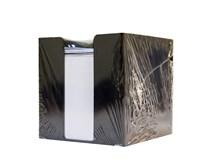Krabička čierna s poznámkovými blokmi 9,5 cm 700 listov biely Sigma 1 ks