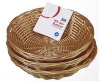 Košíky plastové 18 cm béžové ARO 3 ks