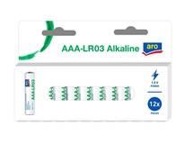Batérie alkalické LR03 AAA ARO 12 ks