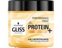 Schwarzkopf Gliss Protein+ Bambucké maslo maska na vlasy 1x400 ml