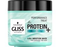 Schwarzkopf Gliss Protein+ Kakaové maslo maska na vlasy 1x400 ml