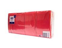 Duni obrúsky červené trojvrstvové 1/8 40 cm 1x250 ks