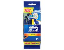 Gillette blue II ultra grip 1x10+4 ks