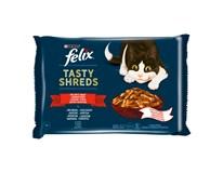 Felix Tasty Shreds lahodný výber z rýb v šťave krmivo pre mačky 4x80 g