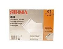 Obálka C5 samolepiaca biela 22,9 x 16,2 cm SIGMA 100ks