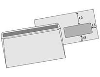 Obálka DL s okienkom samolepiaca biela SIGMA 50ks